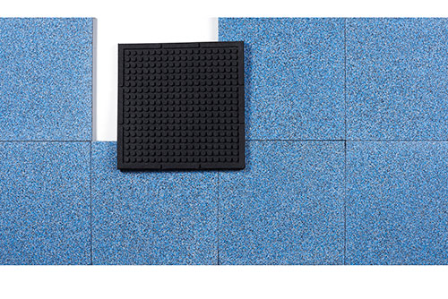 Rubber Athletic Flooring In Rolled Tile And Matting Styles