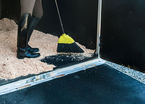 Rubber Equine Flooring Mats Rolled Rubber For Trailers Stalls