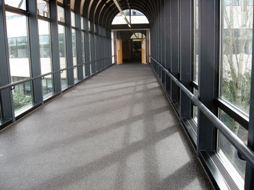 Rubber Tile Flooring for Commercial Buildings