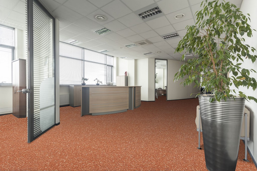 Rolled Rubber Office Flooring